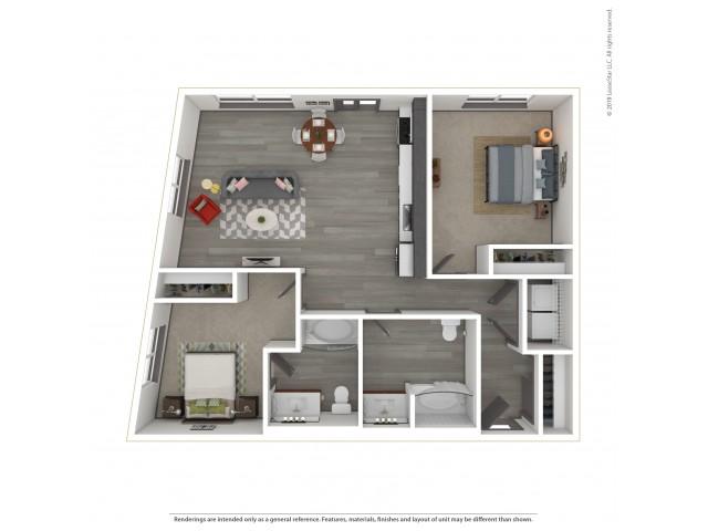 Eastlandmore b19.2 Two Bedroom Two Bath 1031 Square Feet