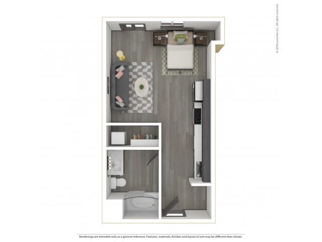 Forest e2.1 Studio 456 Square Feet
