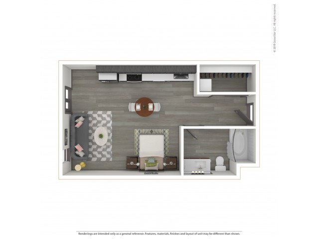 Forest e4.1 Studio 477 Square Feet