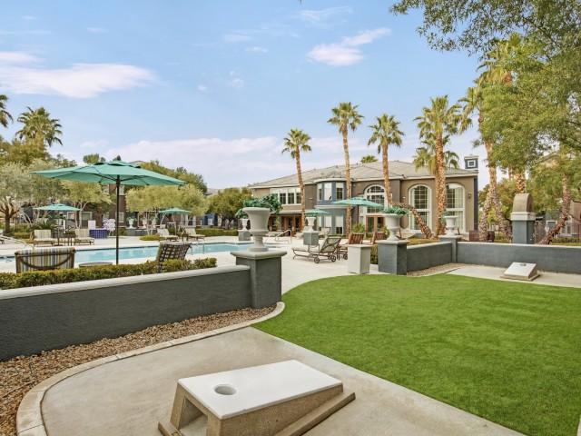 Image of Poolside Mini Golf and Corn Hole for Verona Apartments