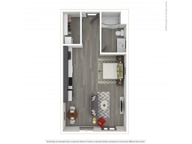 Forest e7.1 Studio 531 Square Feet