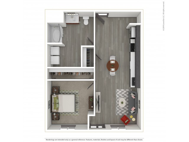 Forest a12.1 685 Square Feet