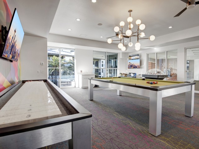 Image of Game Room with Shuffleboard for Pavilions on Central Apartments