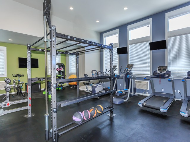 Image of Fitness Center with Cardio and Strength Training Equipment for Outlook at Pilot Butte Apartments