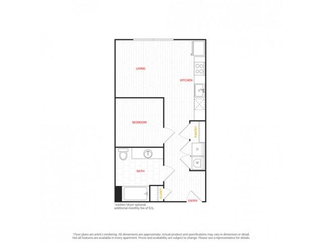 Studio Apartment     HANA Apartments     Seattle Apartments