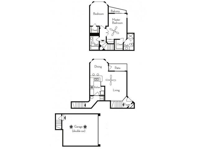 2 Bedroom Floor Plan | Apartments For Rent In Phoenix, AZ | Pavilions on Central Apartments