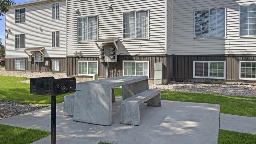 Community BBQ Grills and Picnic Table | Apartments For Rent Park City UT  | Elk Meadows