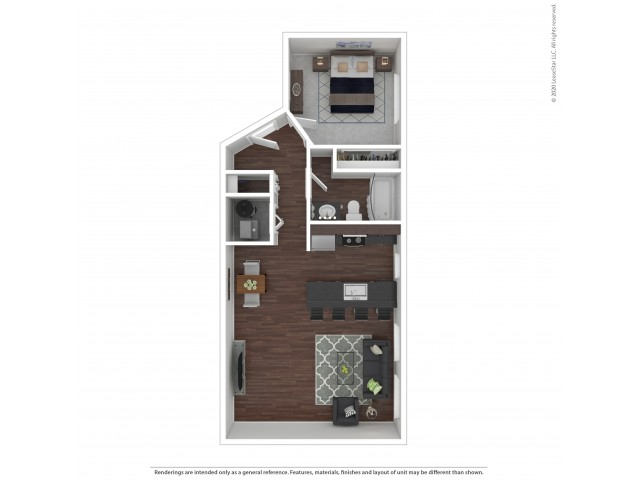 One Bedroom Floor Plan | Apartments For Rent In Park City, UT | Elk Meadows Apartments