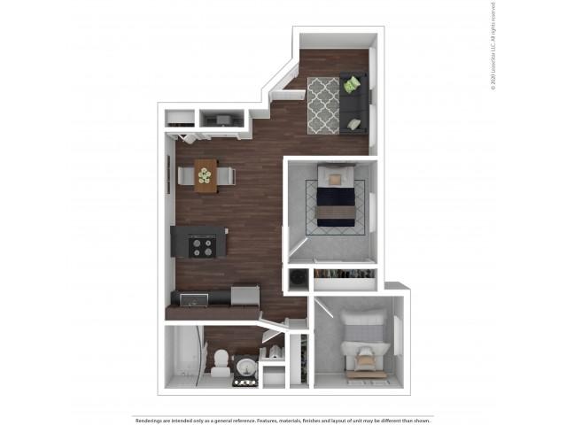 Two Bedroom Floor Plan | Apartments For Rent In Park City, UT | Elk Meadows Apartments