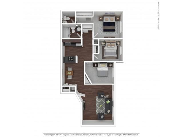 Three Bedroom Floor Plan | Apartments For Rent In Park City, UT | Elk Meadows Apartments