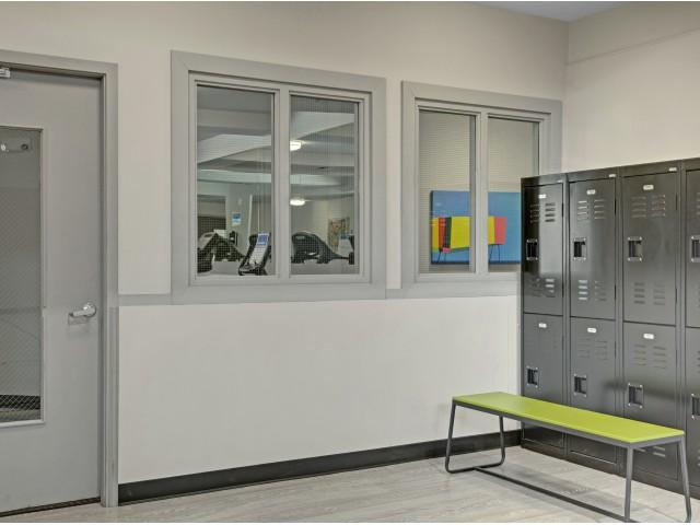 Fitness Locker Room Area