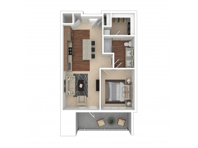 Floor Plan 6 | Crossroads at the Gulch | Apartments In Nashville