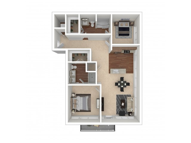 Floor Plan 10   Crossroads at the Gulch   Nashville Apartments For Rent
