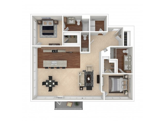 The Gail Floor Plan   Floor Plan 15   Crossroads at the Gulch   Nashville Apartments For Rent