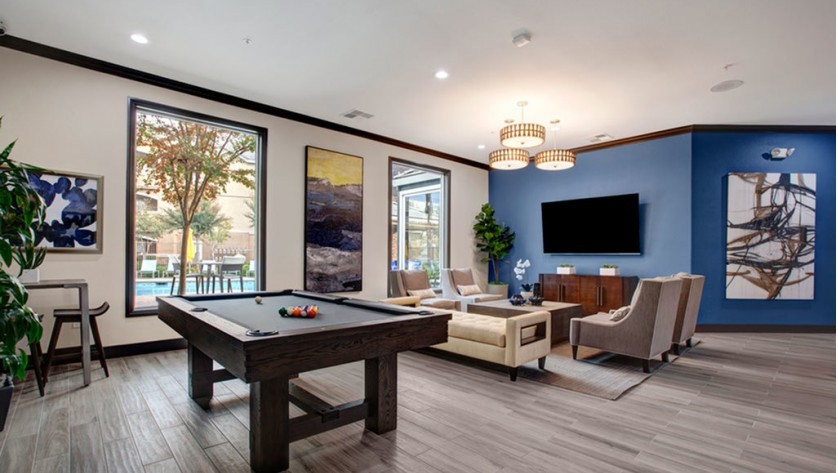 Community Game Room | 2 Bedroom Apartments In Sacramento | Broadleaf Apartments