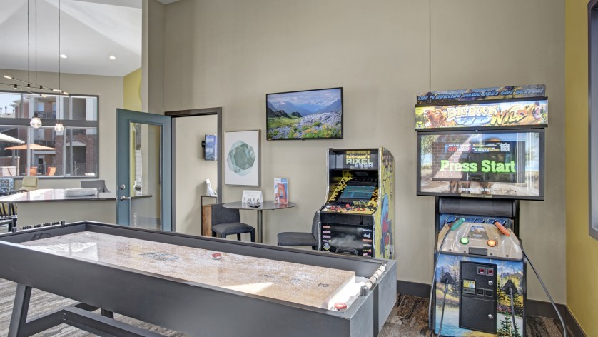 Game Room with Shuffleboard | Apartments For Rent Castle Rock Colorado | The Bluffs at Castle Rock