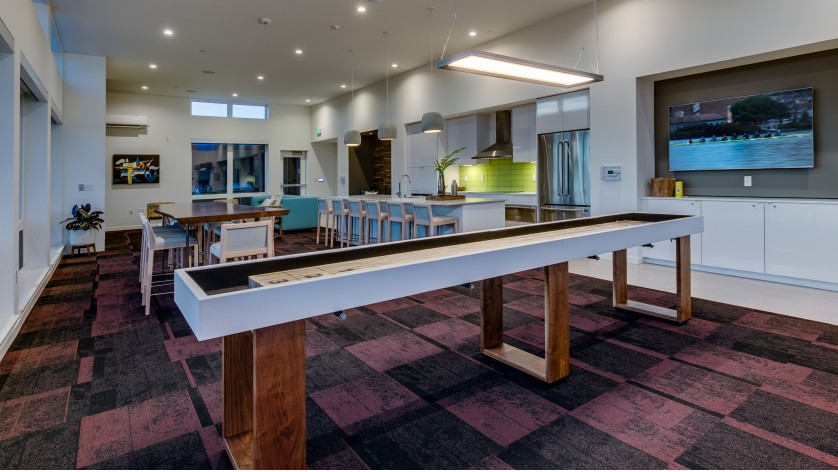 Club Room with Shuffle Board   Augusta Apartments   Seattle Apartments for Rent