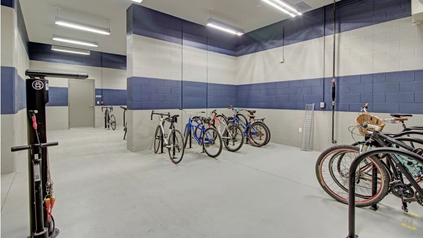 Bike Storage and Repair Area | Crossroads at the Gulch | Apartments In Nashville TN