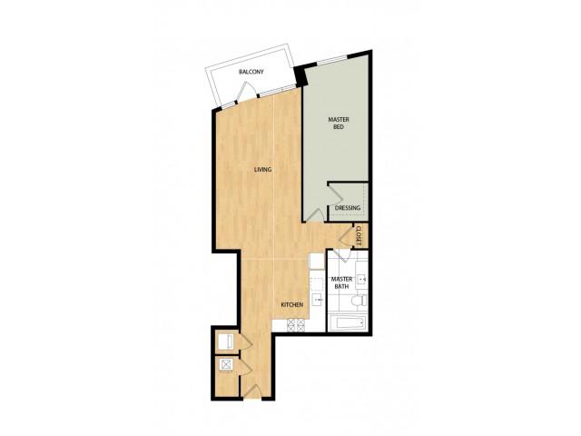 Tower One Bedroom One Bath - Aspen