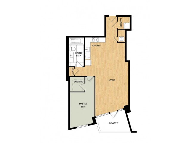 Tower One Bedroom One Bath - Spuce