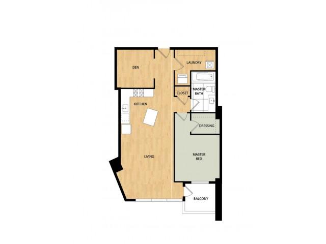 Tower One Bedroom One Bath - Dogwood