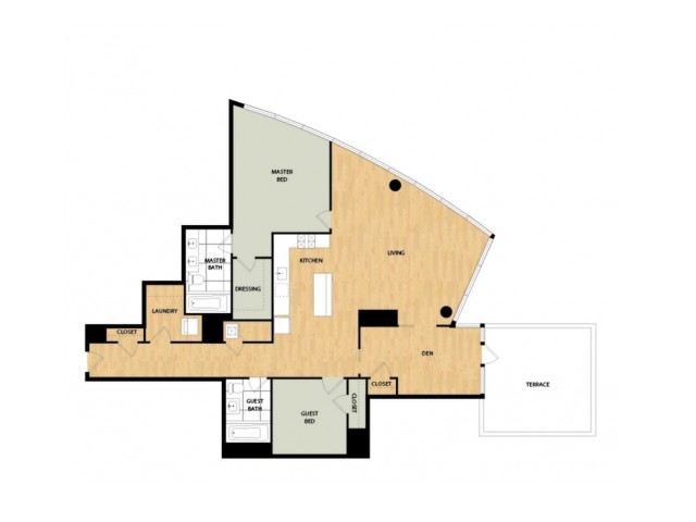 Tower Two Bedroom Two Bath - Larch