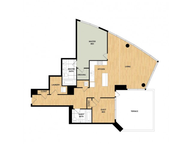Tower Two Bedroom Two Bath - Madrone