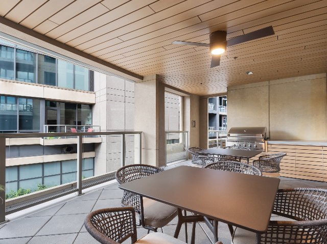 Outdoor Dining Deck with Gas Grill