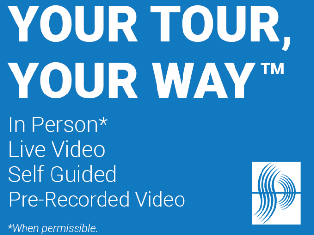 Self-Guided Tours Graphic displaying various types of tours