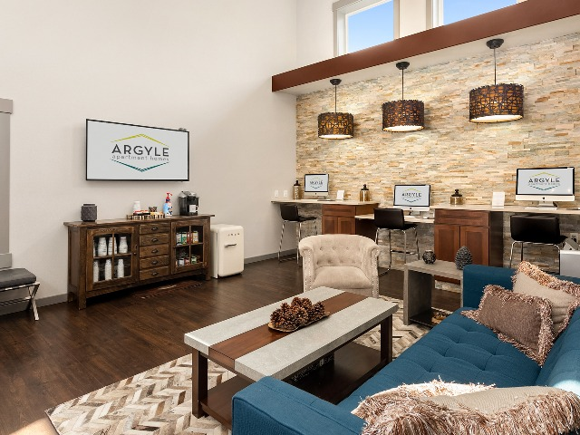 Resident Community Clubhouse with Flat Screen TV