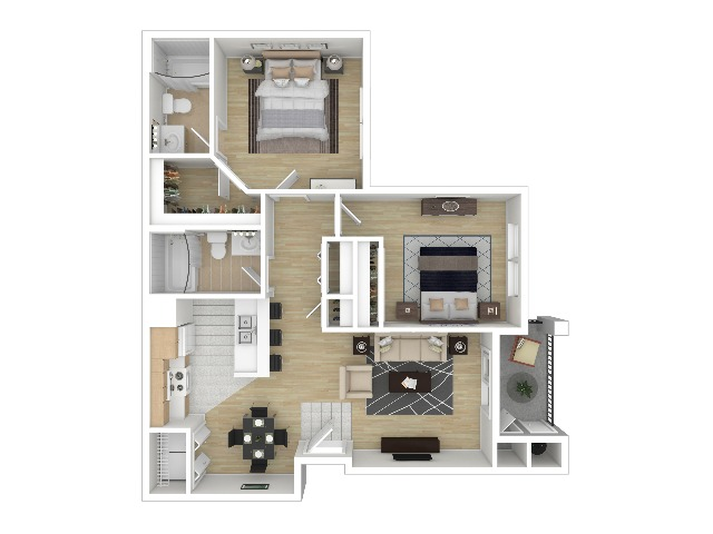 Two Bedroom Two Bath | Apartments For Rent In Colorado Springs CO | Fountain Springs