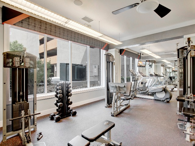 24-hour Fitness Center with Cardio and Strength Equipment