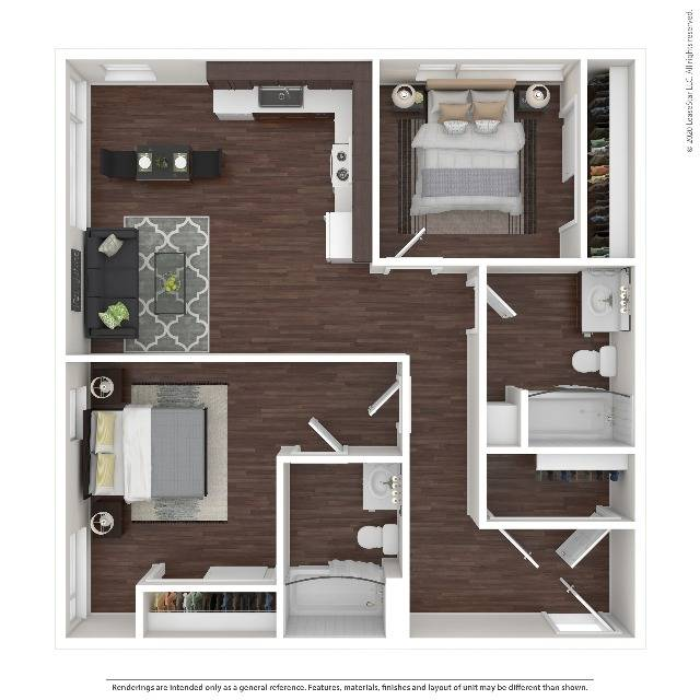 Two Bedroom Apartment   HANA Apartments   Seattle Apartments