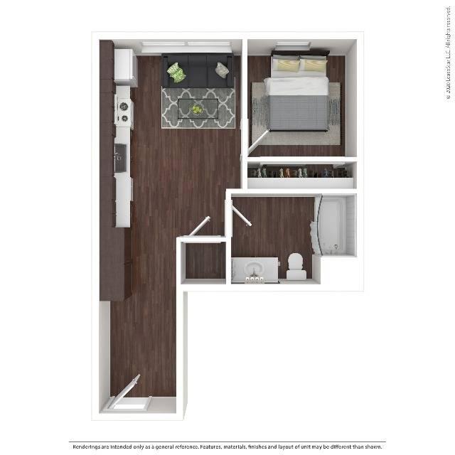 One Bedroom Apartment   HANA Apartments   Seattle Apartments