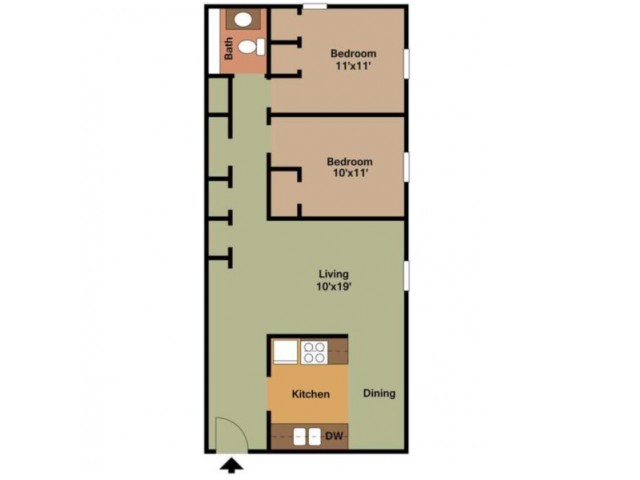 2 Bedroom - 850 Sq