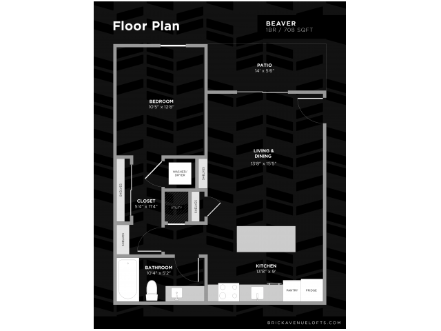 Beaver 1 Bed Apartment Brick Avenue Lofts