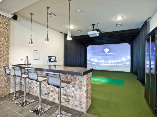 Image of Golf Simulator for Watercolors of Centerton