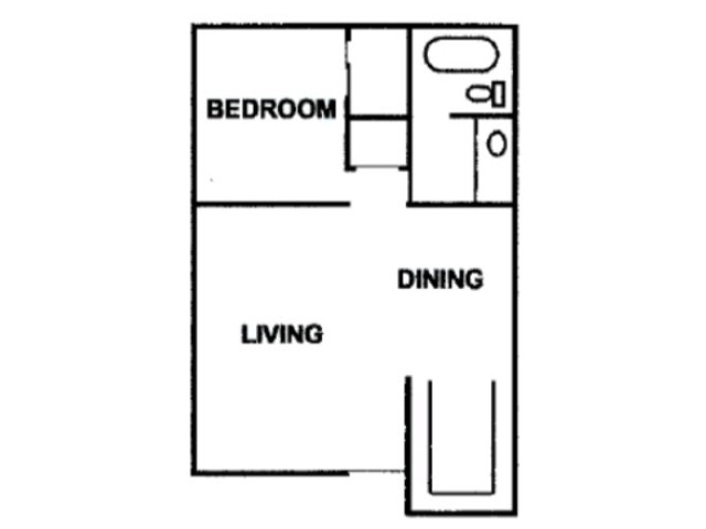 One Bed One Bath Sixty Six 550 Square feet