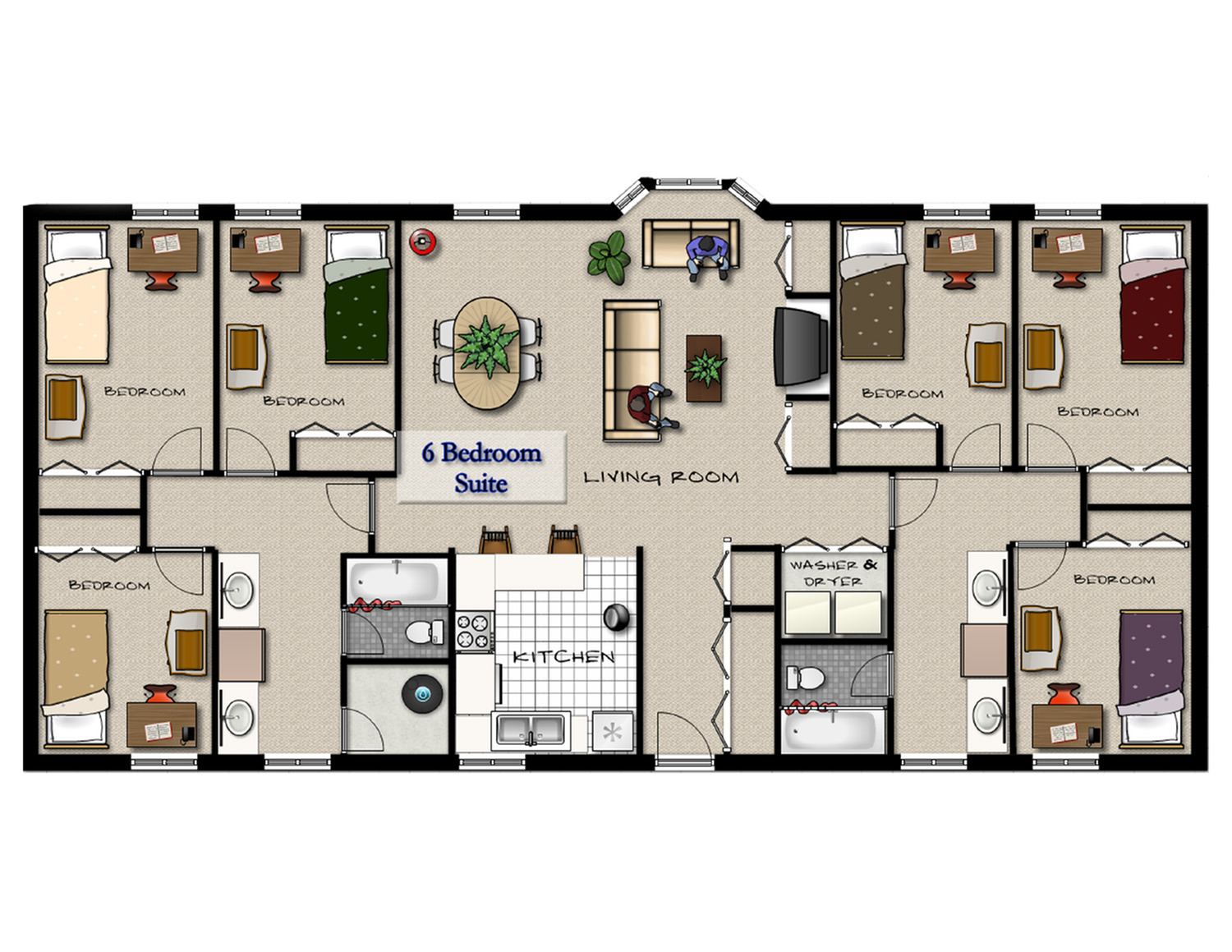 0 for the 6bd 2ba floor plan