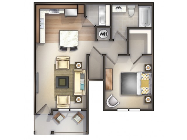 A1 - 1 Bedroom 1 Bath