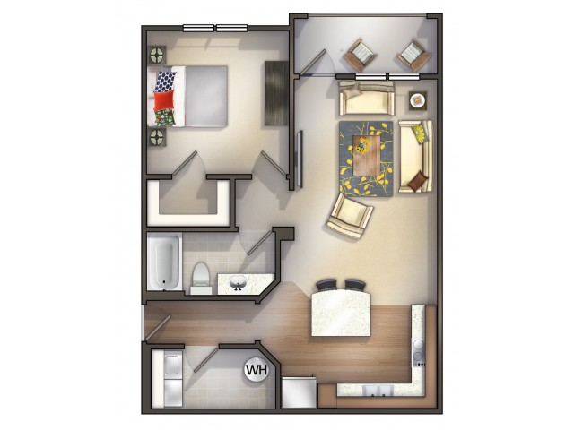 A3 - 1 Bedroom 1 Bath