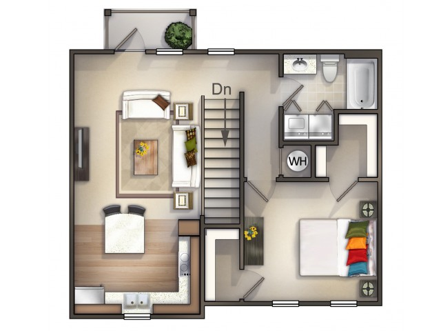 A4 - 1 Bedroom 1 Bath