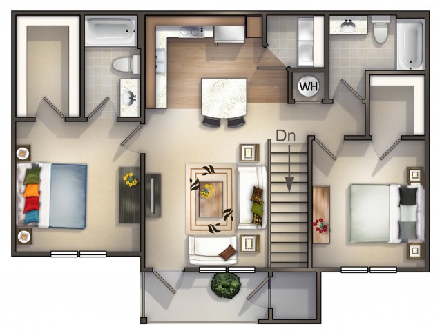 B2 - 2 Bedroom 2 Bath