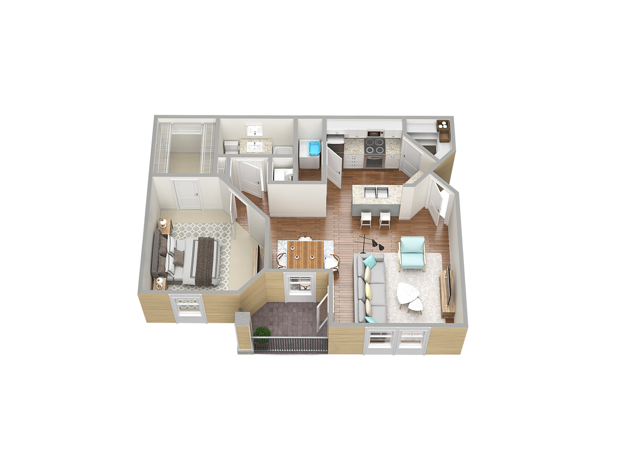 1 Bdrm Floor Plan | Fort Myers Apartment For Rent | Mosaic at the Forum