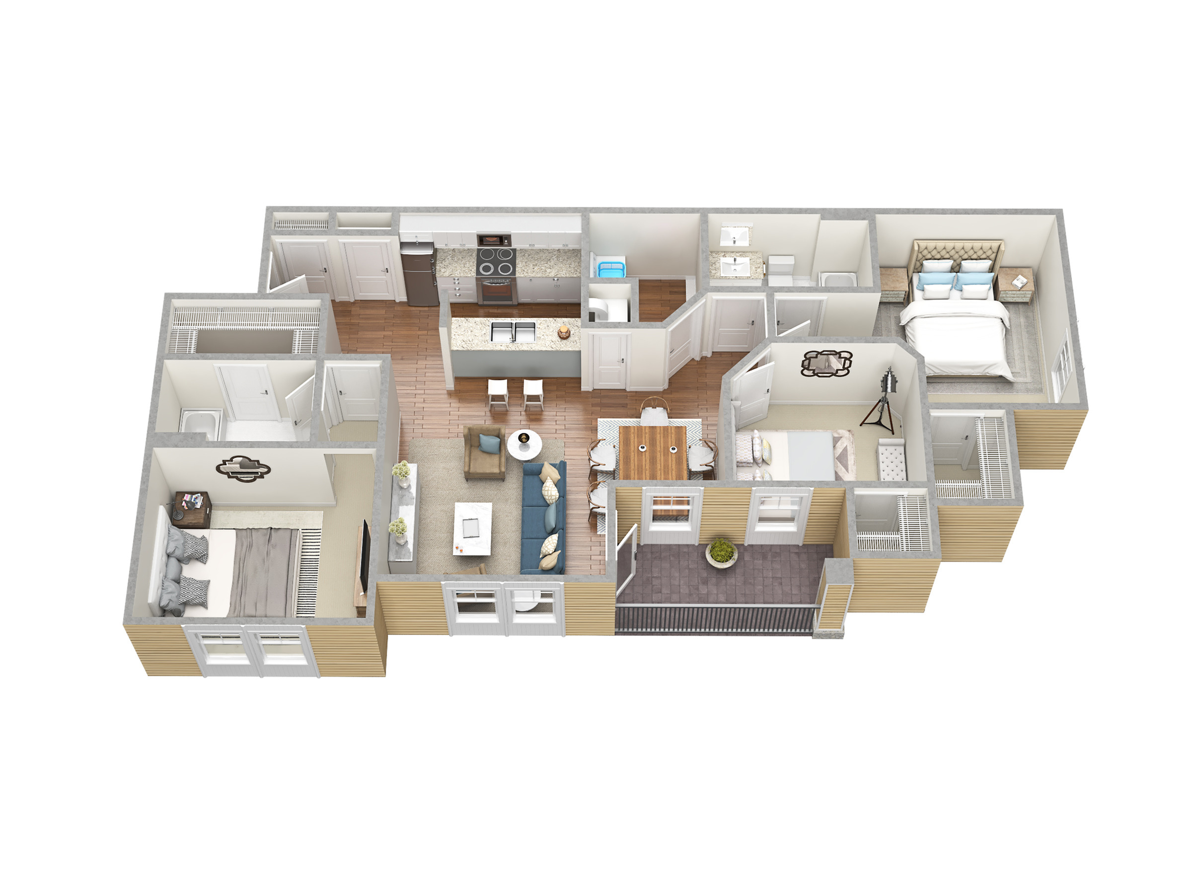 3 Bedroom Floor Plan | Apartments In Fort Myers Fl | Mosaic at the Forum
