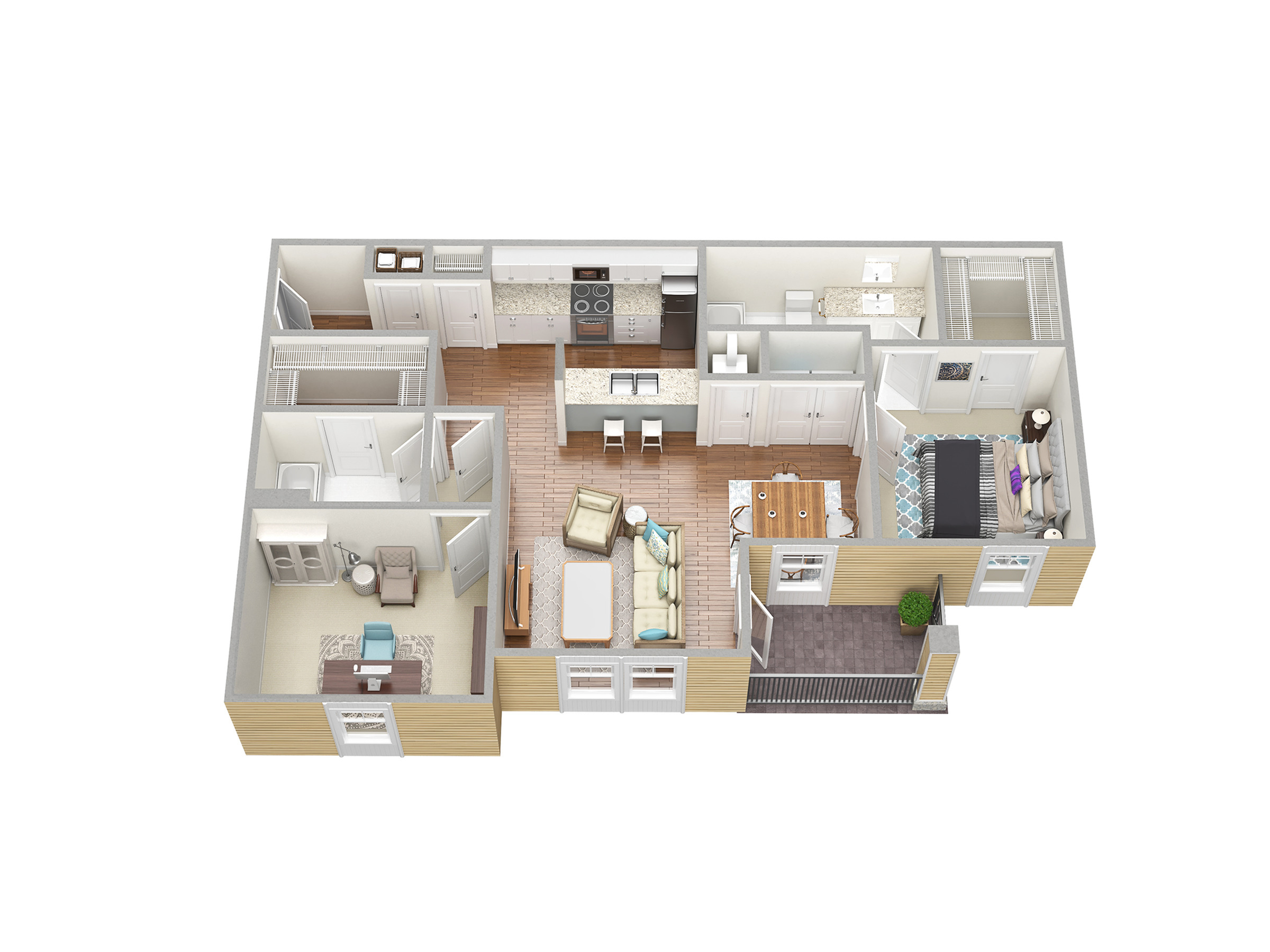 Floor Plan 2 | Fort Myers Apartment For Rent | Mosaic at the Forum