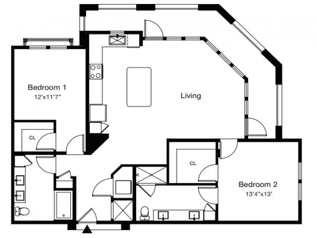 Floor Plan 4 | Sarasota Apartments | ARCOS