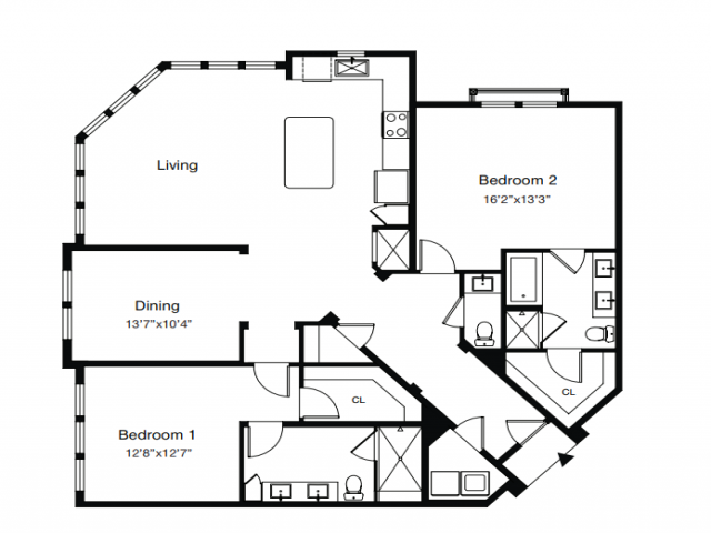 Floor Plan 3 | Luxury Apartments Sarasota Fl | ARCOS