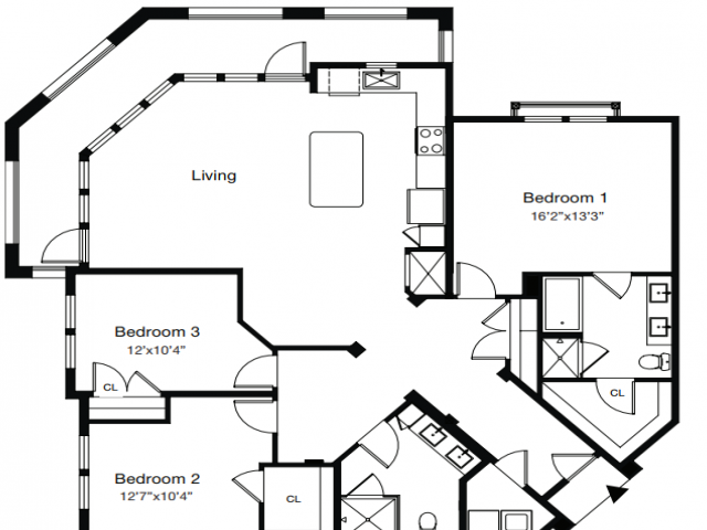 3 Bedroom Floor Plan | Apartments In Sarasota Fl | ARCOS
