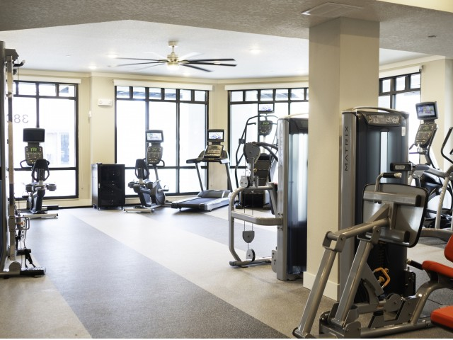 Image of State of the art fitness center with Gym Rax cross training equipment and free weights for ARCOS